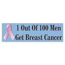 Male Breast Cancer Awareness Bumper Bumper Bumper Sticker