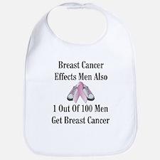 Male Breast Cancer Awareness Bib