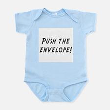 push the envelope Infant Bodysuit