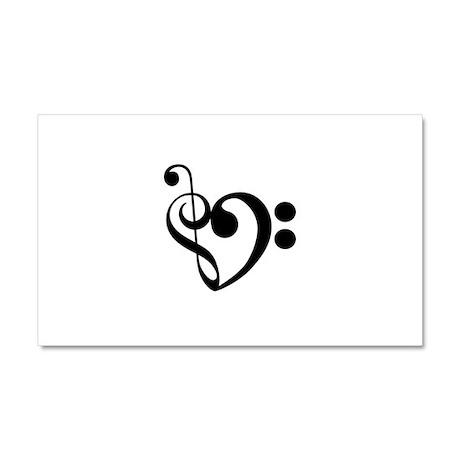 Musical Heart Car Magnet 20 x 12