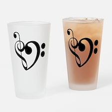 Musical Heart Drinking Glass