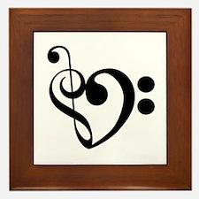 Musical Heart Framed Tile