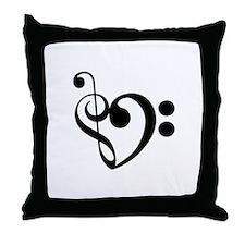 Musical Heart Throw Pillow