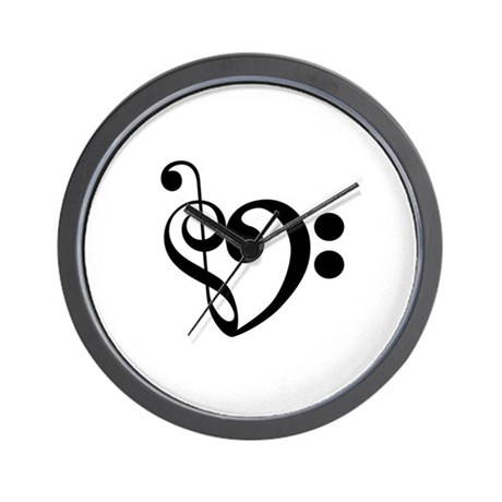Musical Heart Wall Clock