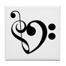 Musical Heart Tile Coaster