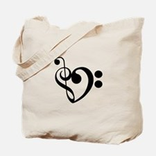 Musical Heart Tote Bag