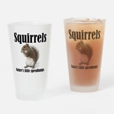 Squirrel Bumps Drinking Glass