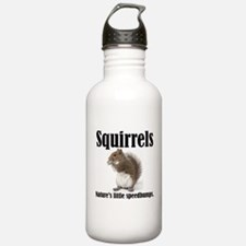 Squirrel Bumps Water Bottle