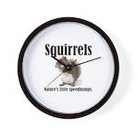 Squirrel Bumps Wall Clock