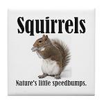 Squirrel Bumps Tile Coaster
