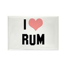 I heart Rum Rectangle Magnet
