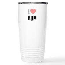 I heart Rum Travel Coffee Mug