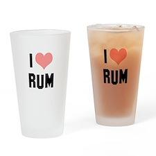 I heart Rum Drinking Glass