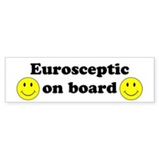 Eurosceptic On Board Bumper Car Sticker