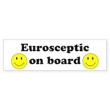 Eurosceptic On Board Bumper Car Sticker