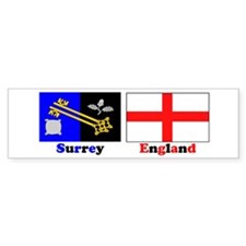 Surrey, England Bumper Car Sticker