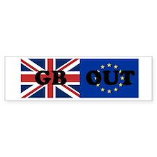 GB OUT Bumper Car Car Sticker