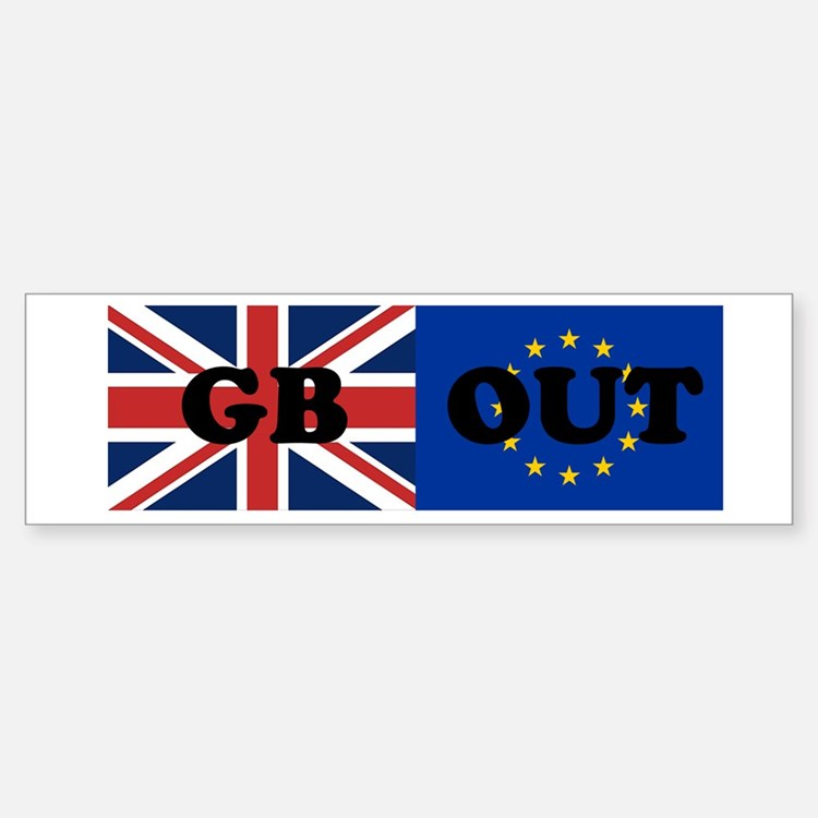 GB OUT Bumper Car Car Sticker