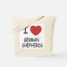 I heart german shepherds Tote Bag