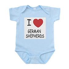 I heart german shepherds Infant Bodysuit