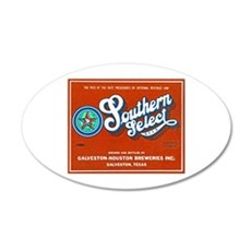 Texas Beer Label 1 22x14 Oval Wall Peel