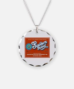 Texas Beer Label 1 Necklace Circle Charm