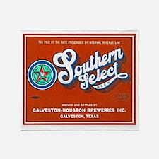 Texas Beer Label 1 Throw Blanket