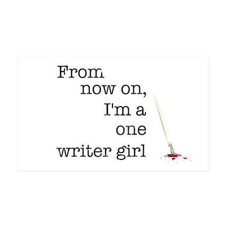 One writer girl 38.5 x 24.5 Wall Peel