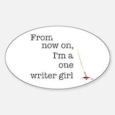 One writer girl Decal