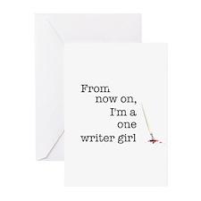 One writer girl Greeting Cards (Pk of 10)