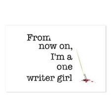 One writer girl Postcards (Package of 8)