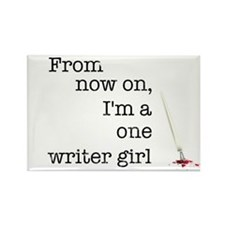One writer girl Rectangle Magnet (10 pack)