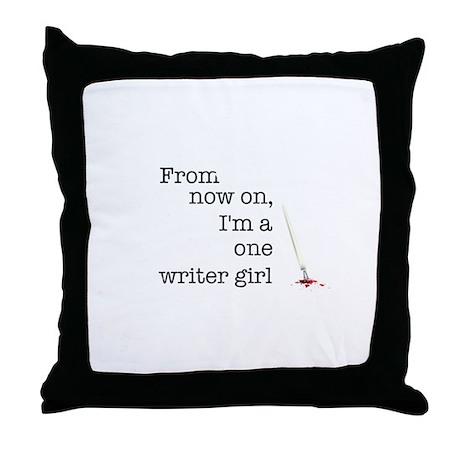 One writer girl Throw Pillow