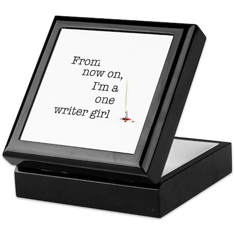 One writer girl Keepsake Box