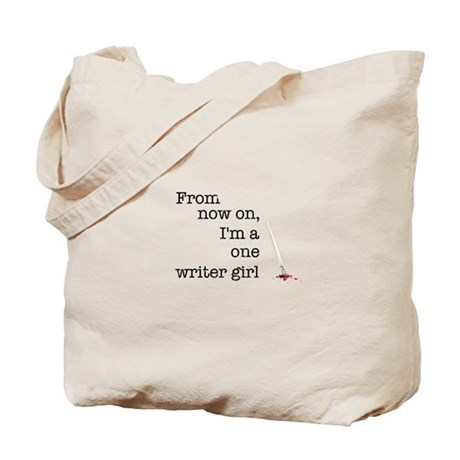 One writer girl Tote Bag