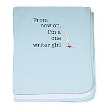 One writer girl baby blanket