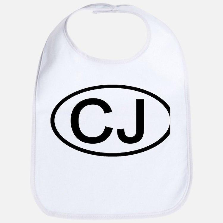 CJ - Initial Oval Bib