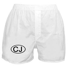 CJ - Initial Oval Boxer Shorts