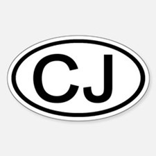 CJ - Initial Oval Oval Decal
