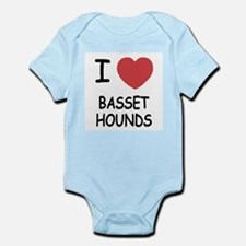 I heart basset hounds Infant Bodysuit