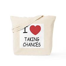 I heart taking chances Tote Bag