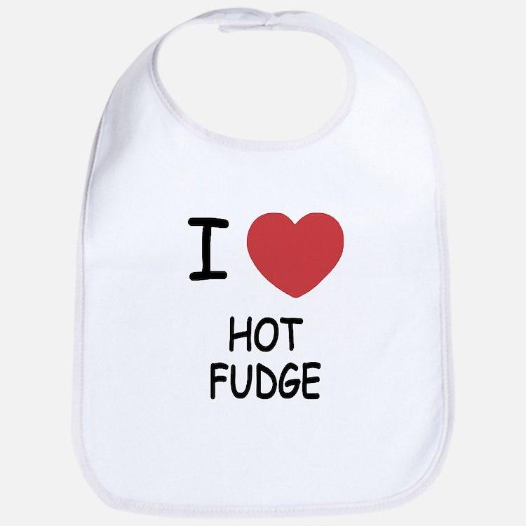 I heart hot fudge Bib