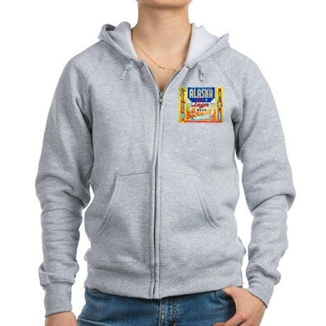 Alaska Beer Label 1 Women's Zip Hoodie