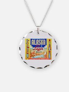 Alaska Beer Label 1 Necklace