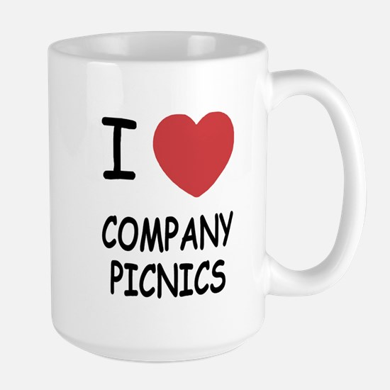 I heart company picnics Large Mug
