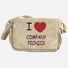 I heart company picnics Messenger Bag