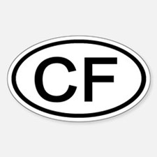 CF - Initial Oval Oval Decal