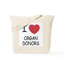 I heart organ donors Tote Bag