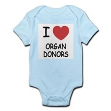 I heart organ donors Infant Bodysuit