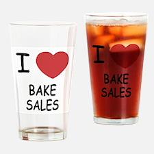 I heart bake sales Drinking Glass